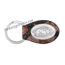 Load image into Gallery viewer, Arkansas Zep-Pro Leather Concho Key Fob Brown, Camo or Black