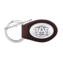 Load image into Gallery viewer, Auburn Zep-Pro Leather Concho Key Fob Brown, Camo or Black