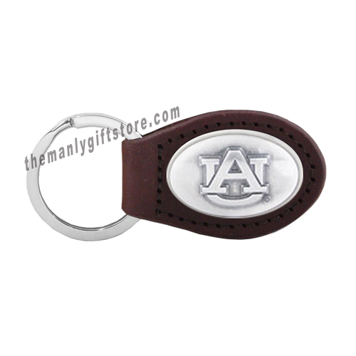 Auburn Zep-Pro Leather Concho Key Fob Brown, Camo or Black