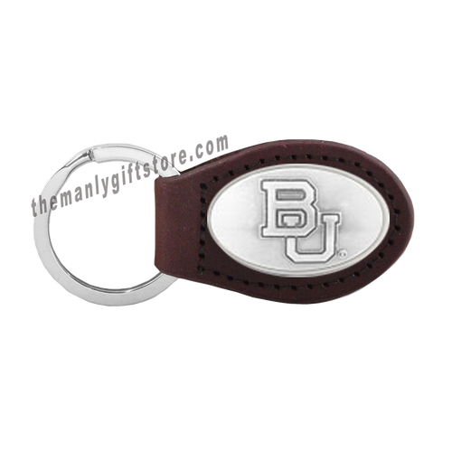 Baylor Zep-Pro Leather Concho Key Fob Brown, Camo or Black
