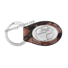 Load image into Gallery viewer, Clemson Zep-Pro Leather Concho Key Fob Brown, Camo or Black