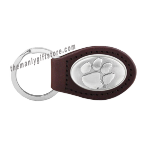 Clemson Zep-Pro Leather Concho Key Fob Brown, Camo or Black