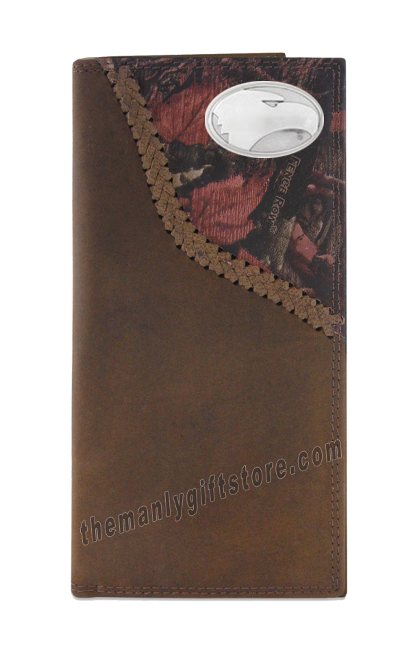 Georgia Southern Eagles Fence Row Camo Genuine Leather Roper Wallet