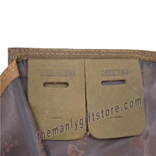 Load image into Gallery viewer, Kansas Jayhawks Genuine Crazy Horse Leather Roper Wallet