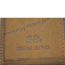 Load image into Gallery viewer, OSU Oklahoma State Genuine Crazy Horse Leather Roper Wallet