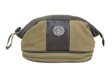 Load image into Gallery viewer, Maltese Cross Zep Pro Khaki Canvas Concho Toiletry Bag