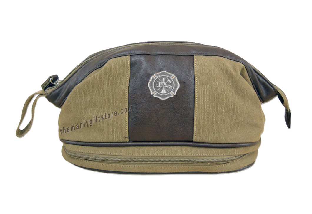 Maltese Cross Zep Pro Khaki Canvas Concho Toiletry Bag