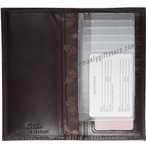 Load image into Gallery viewer, Marlin Saltwater Fish Wrinkle Zep Pro Leather Roper Wallet