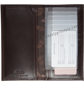 Marlin Saltwater Fish Wrinkle Zep Pro Leather Roper Wallet
