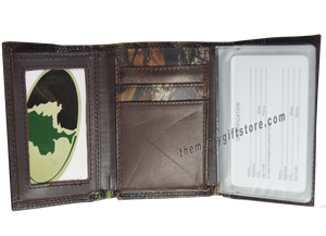 Georgia Southern Eagles Mossy Oak Camo Zep Pro Trifold Leather Wallet