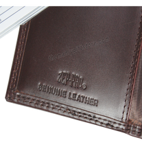 Load image into Gallery viewer, Ichthys Christian Fish Wrinkle Zep Pro Leather Roper Wallet
