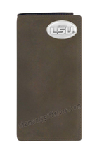 Load image into Gallery viewer, Louisiana State University LSU Tigers Genuine Leather Roper Wallet