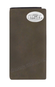 Louisiana State University LSU Tigers Genuine Leather Roper Wallet