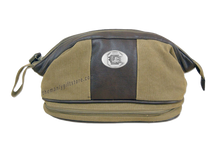 Load image into Gallery viewer, South Carolina Zep Pro Khaki Canvas Concho Toiletry Bag