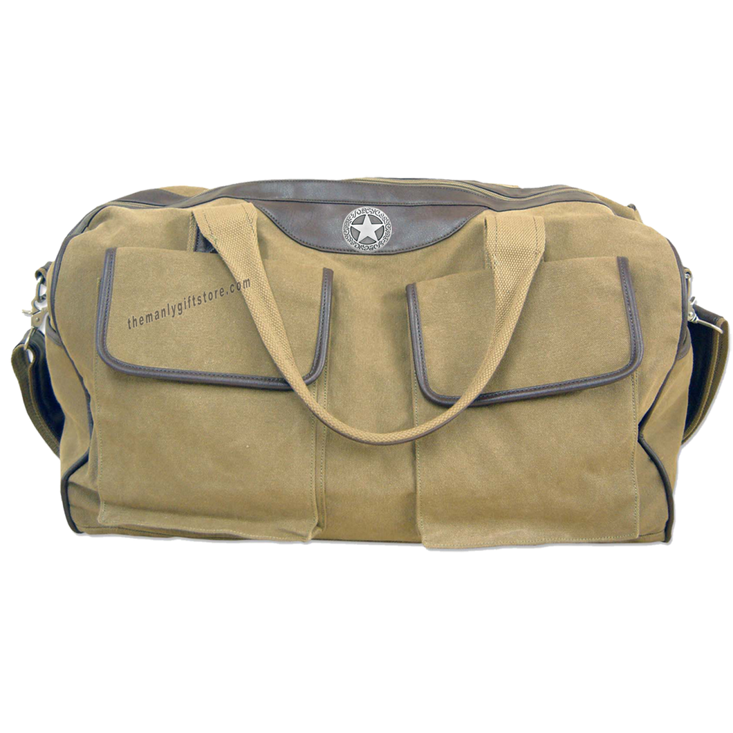 Star Zep Pro Waxed Canvas Weekender Duffle Bag