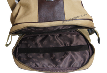 Load image into Gallery viewer, West Virginia Zep Pro Khaki Canvas Concho Toiletry Bag