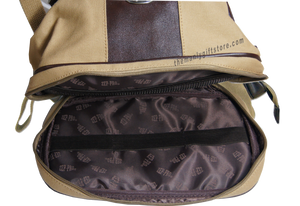 Virginia Zep Pro Khaki Canvas Concho Toiletry Bag