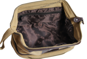 Bass Zep Pro Khaki Canvas Concho Toiletry Bag