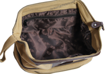 Load image into Gallery viewer, Palmetto Tree Zep Pro Khaki Canvas Concho Toiletry Bag