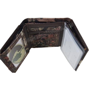 Shotgun Shell Mossy Oak Camo Trifold Nylon Wallet