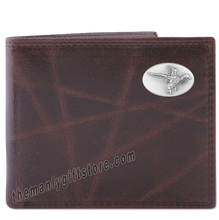 Load image into Gallery viewer, Flying Duck Wrinkle Zep Pro Leather Bifold Wallet