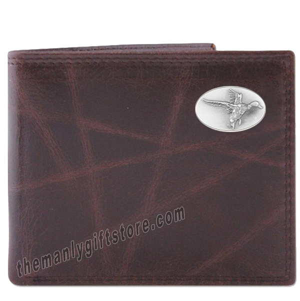 Flying Duck Wrinkle Zep Pro Leather Bifold Wallet
