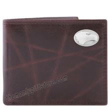 Load image into Gallery viewer, Georgia Southern Eagles Wrinkle Zep Pro Leather Bifold Wallet
