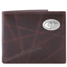 Load image into Gallery viewer, Mossy Oak Logo Wrinkle Zep Pro Leather Bifold Wallet