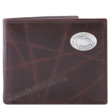Load image into Gallery viewer, Penn State Nittany Lion Wrinkle Zep Pro Leather Bifold Wallet