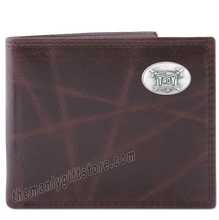 Load image into Gallery viewer, Troy Alabama Trojans Wrinkle Zep Pro Leather Bifold Wallet