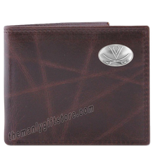 Load image into Gallery viewer, Virginia Cavaliers Wrinkle Zep Pro Leather Bifold Wallet