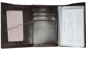 Cotton Logo Wrinkle Zep Pro Leather Trifold Wallet