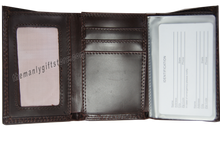 Load image into Gallery viewer, Ichthys Christian Fish Wrinkle Zep Pro Leather Trifold Wallet