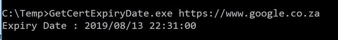 Get Certificate Expiry Date command line utility