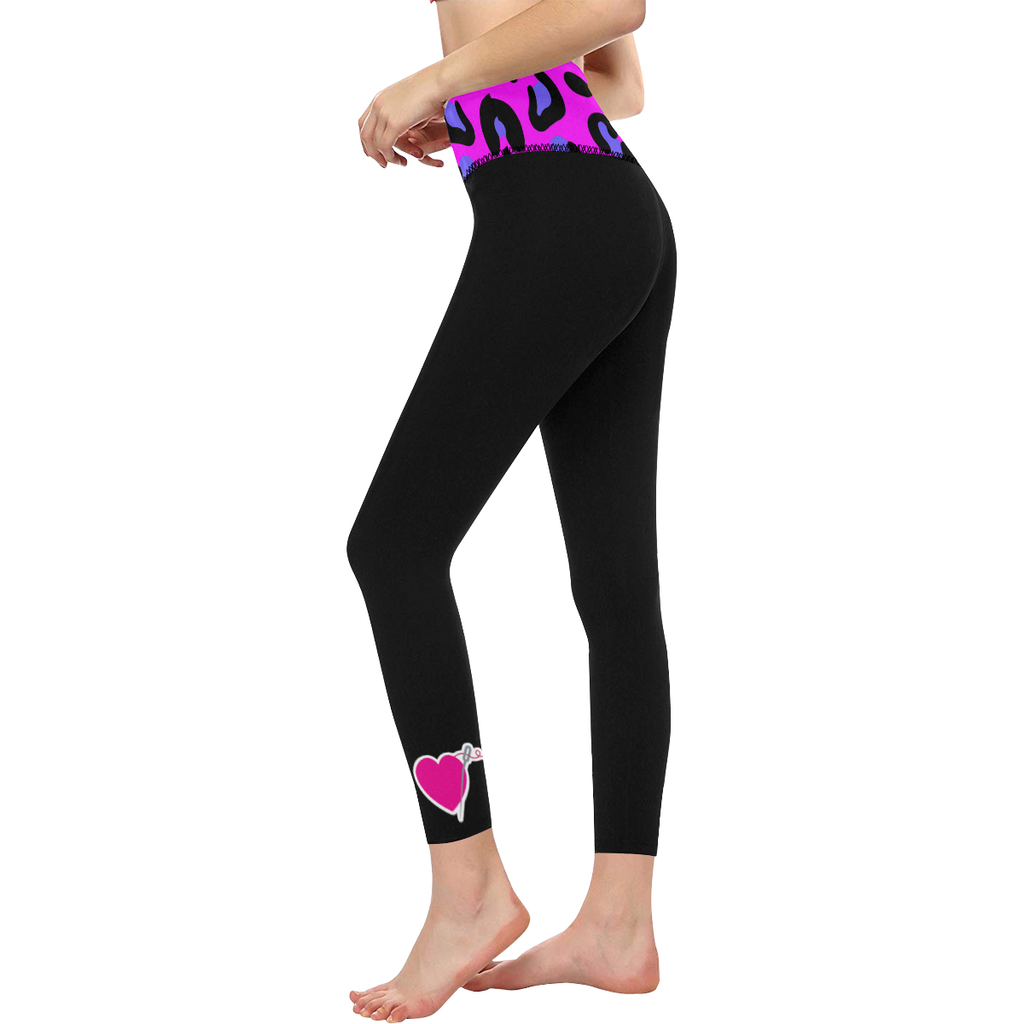 PINK LEOPARD HIGH WAIST YOGA LEGGINGS