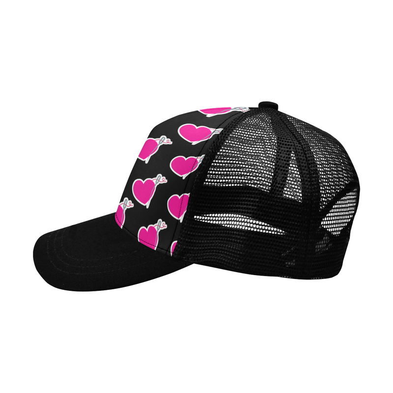 BLACK HEART & NEEDLE TRUCKER HAT