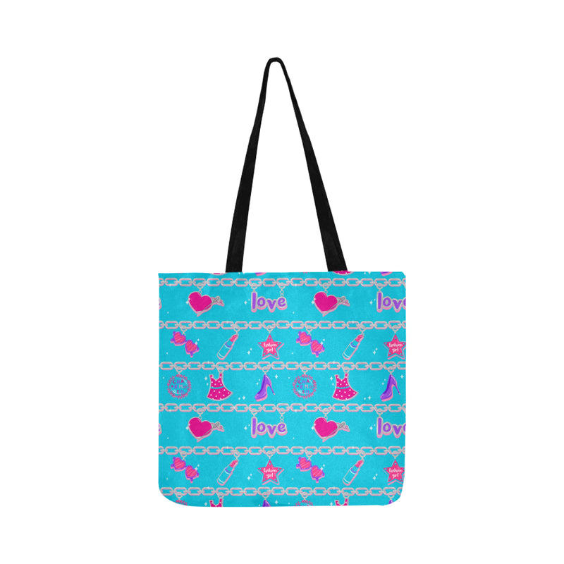CHARMED TOTE BAG- teal