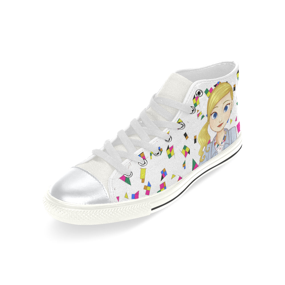 MISS BIANCA HIGH TOP CANVAS SNEAKERS FOR KIDS