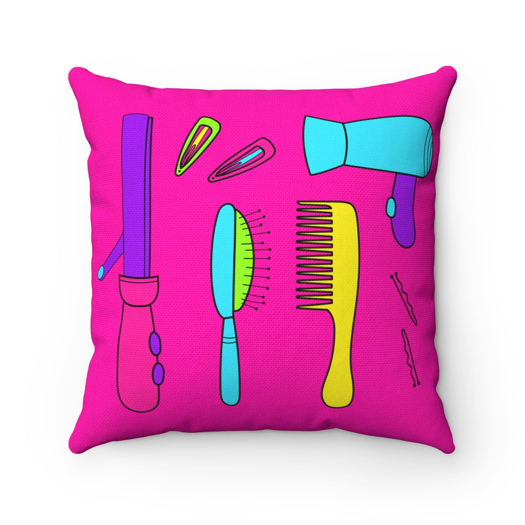 HAIR ESSENTIALS  Square Pillow Case