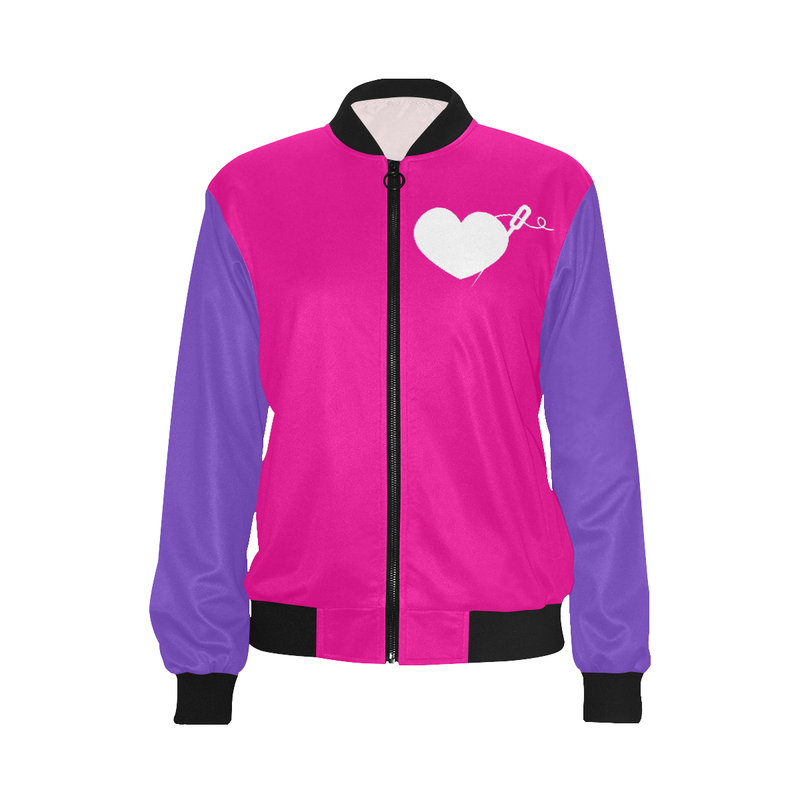 COLOR BLOCK LIGHTWEIGHT BOMBER JACKET