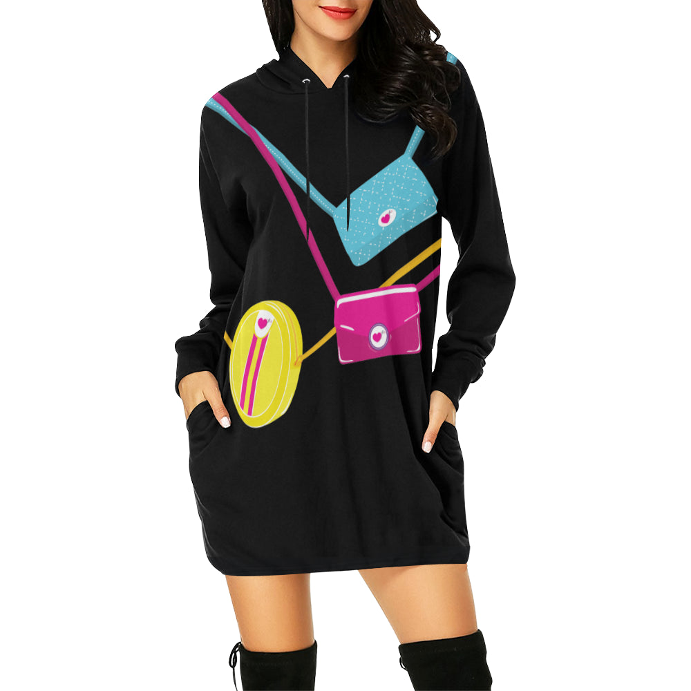 IN MY BAG$ HOODIE DRESS