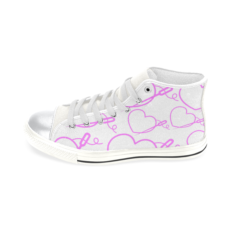 HEART & NEEDLE LITE HIGH-TOP GIRLS' SNEAKERS (sz 6-12)
