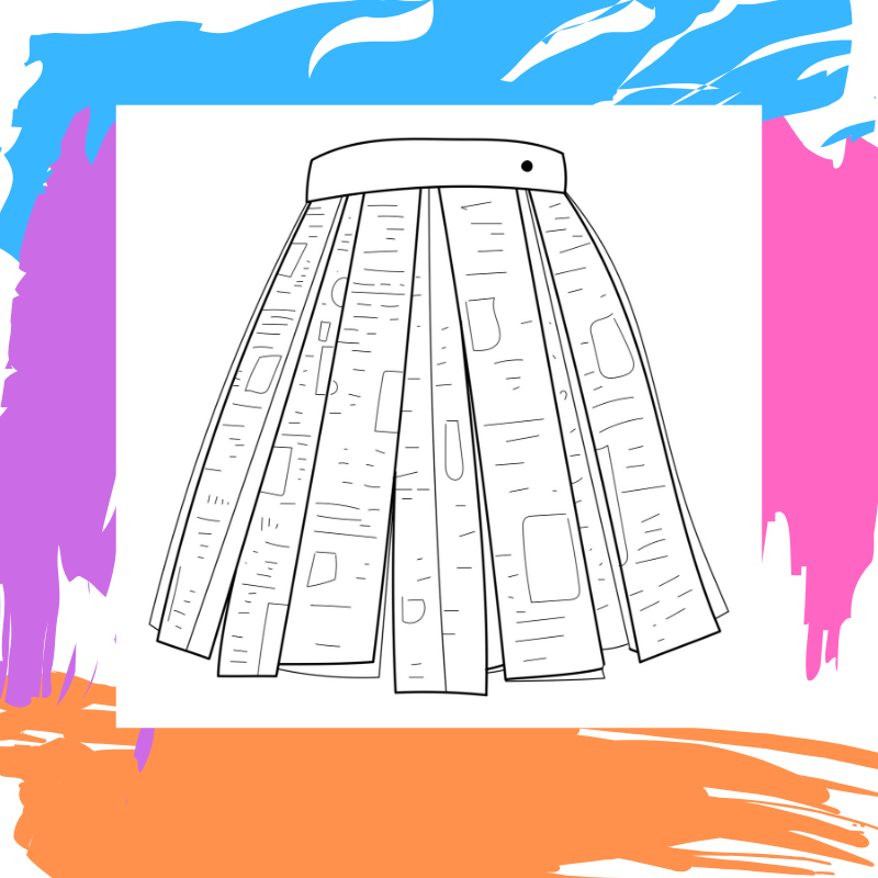 NEWSPAPER SKIRT
