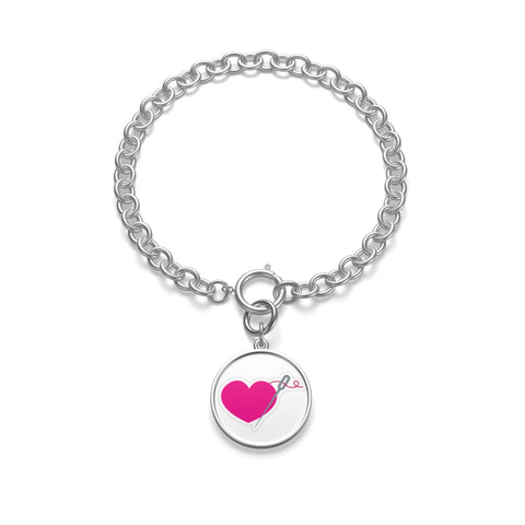 MISS APRIL HEART & NEEDLE Chunky Chain Bracelet