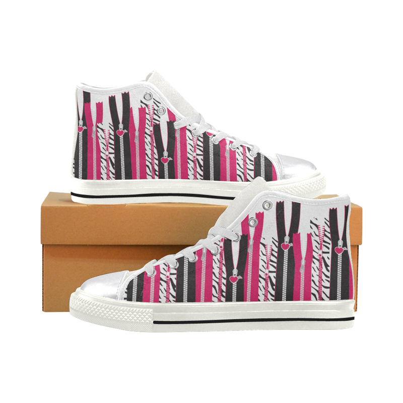 EDGY ZIPPER HIGH-TOP GIRLS' SNEAKERS (sz 6-12)