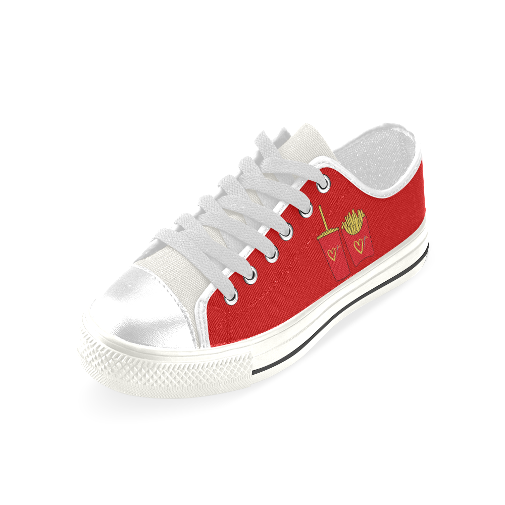 FAST FASHION LOW TOP CANVAS GIRLS' SNEAKERS