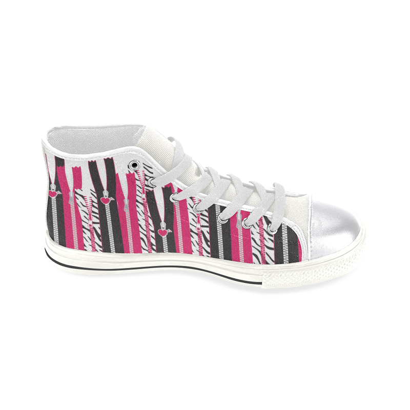 EDGY ZIPPERS HIGH TOP CANVAS GIRLS' SNEAKERS