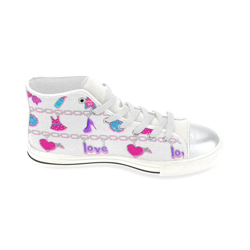 CHARMED HIGH TOP CANVAS GIRLS' SNEAKERS FOR KIDS