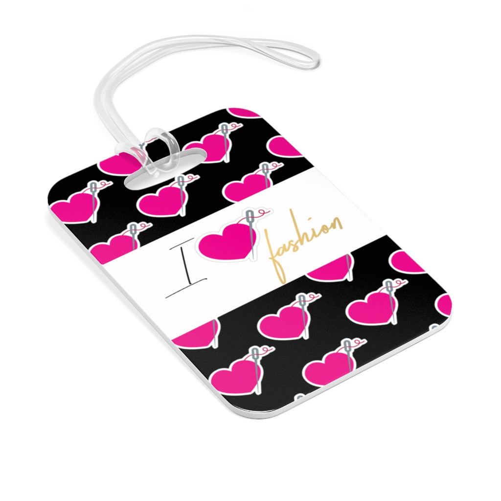 I HEART FASHION BAG TAG