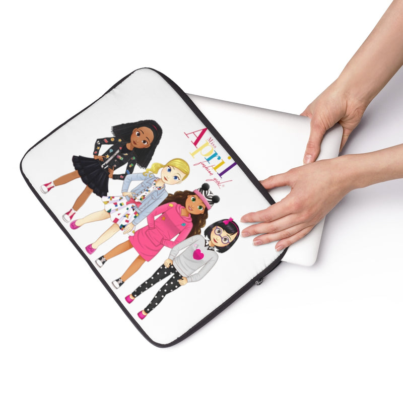MISS APRIL FASHION GIRL Laptop Sleeve